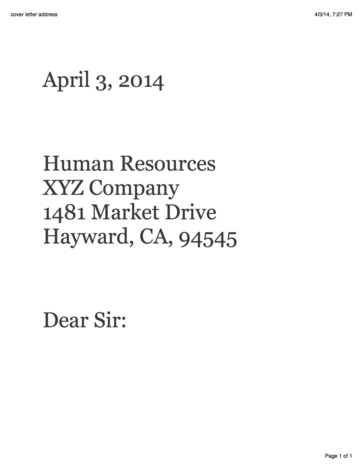 Bad Cover Letter  Cover Letter Name