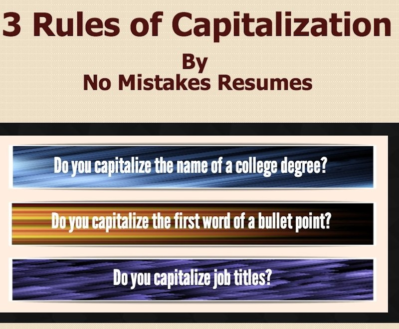 3 Rules For Capitalization On Resumes Giacomo Giammatteo
